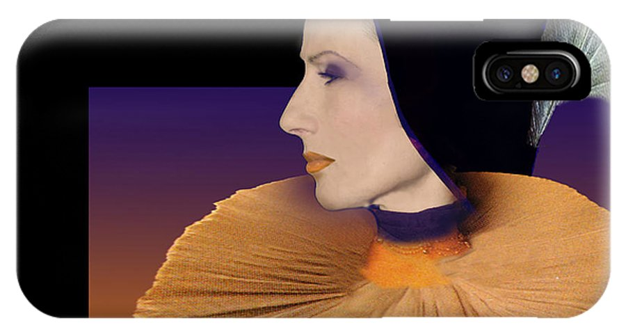 Faces IPhone X Case featuring the digital art Donatella by Angelika Drake