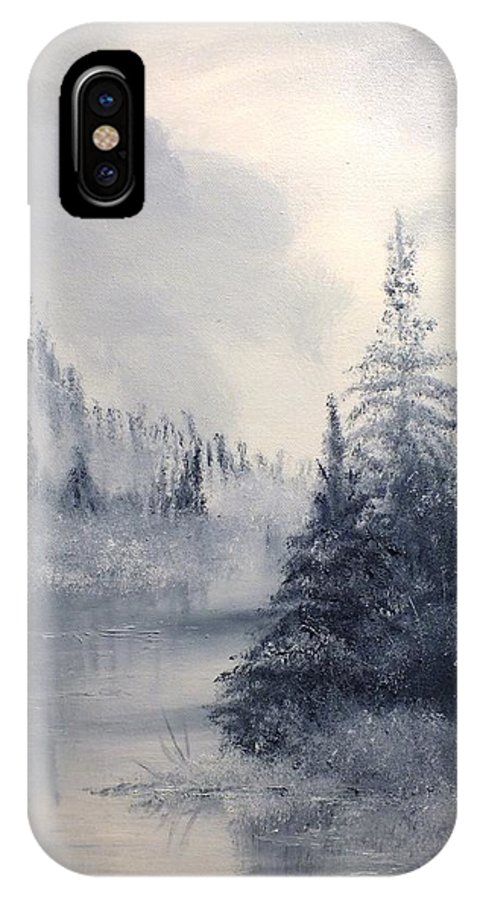 Nature IPhone X Case featuring the painting Donna's Dawn by Peggy King