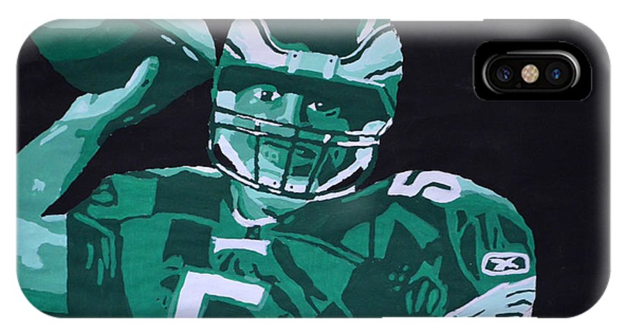 Eagles IPhone X Case featuring the painting Donovan Mcnabb by David Ziegler