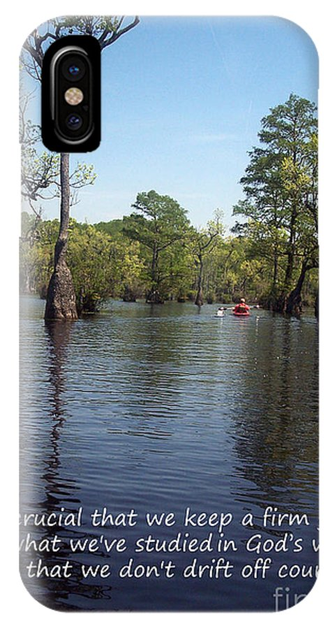 Swamp IPhone X Case featuring the photograph Don't Drift Off Couse by Sandra Clark