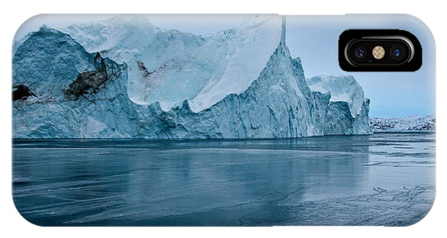 Greenland IPhone X Case featuring the photograph Don't Slip by Jim Southwell