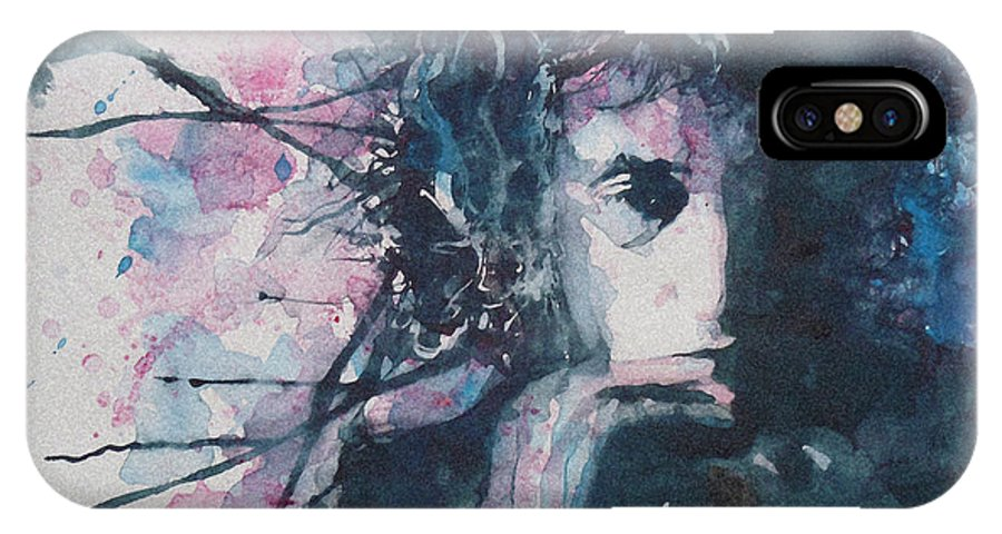 Bob Dylan IPhone X Case featuring the painting Don't Think Twice It's Alright by Paul Lovering