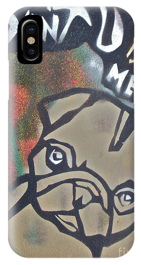 Stencil Paintings IPhone X Case featuring the painting Don't You Dog Me 1 by Tony B Conscious