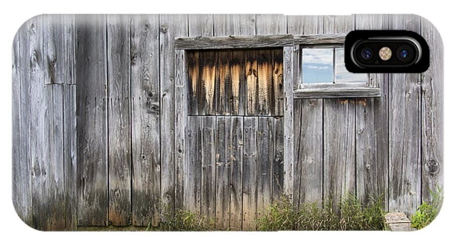 Autumn IPhone X Case featuring the photograph Barn Door With A Window by Gej Jones
