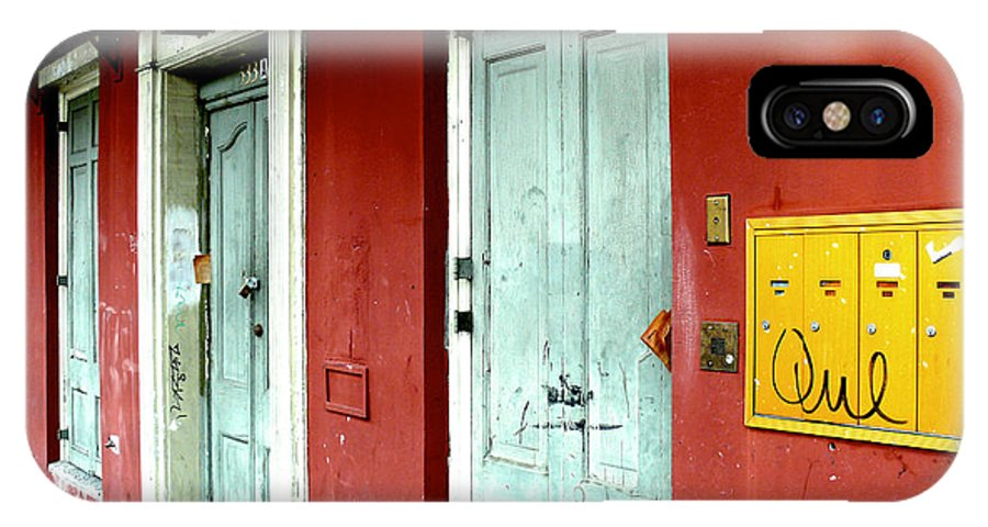 New Orleans IPhone X Case featuring the photograph Doorways by Erich Faggart
