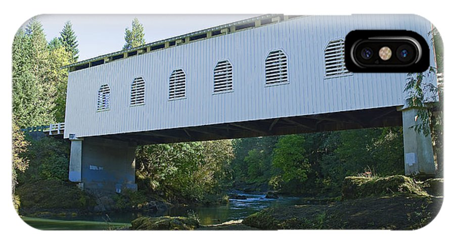 Pacific IPhone X Case featuring the photograph Dorena Covered Bridge 2 by Nick Boren