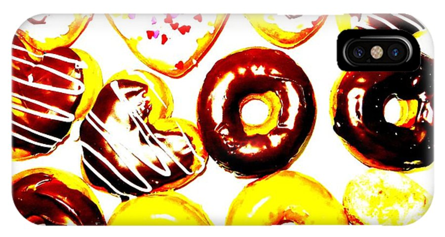 Doughnuts IPhone X Case featuring the photograph Doughhhnuts by Tim Townsend