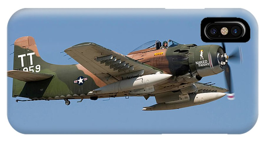 3scape IPhone X Case featuring the photograph Douglas Ad-4 Skyraider by Adam Romanowicz