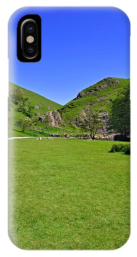 Children IPhone X Case featuring the photograph Dovedale - Stepping Stones Area by Rod Johnson
