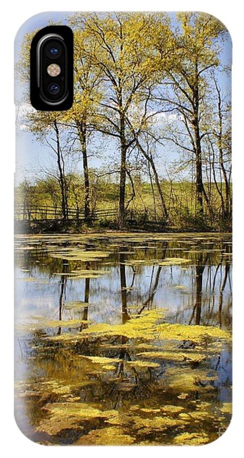 Landscape IPhone X Case featuring the photograph Down On Blackburne Farm by Chet B Simpson