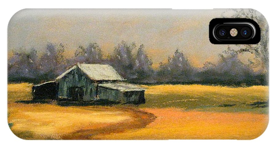 Barn IPhone X Case featuring the painting Down On The Farm by Julia RIETZ