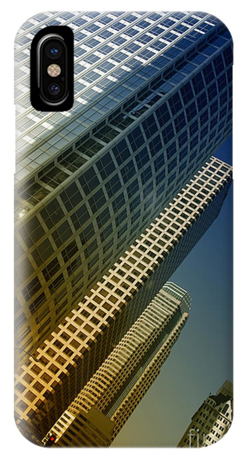 Buildings IPhone X Case featuring the digital art Downtown by Angelika Drake
