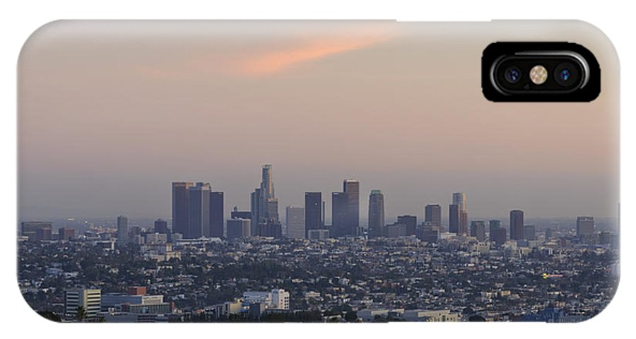 Downtown Los Angeles IPhone X Case featuring the photograph Downtown Los Angeles by Mike Herdering