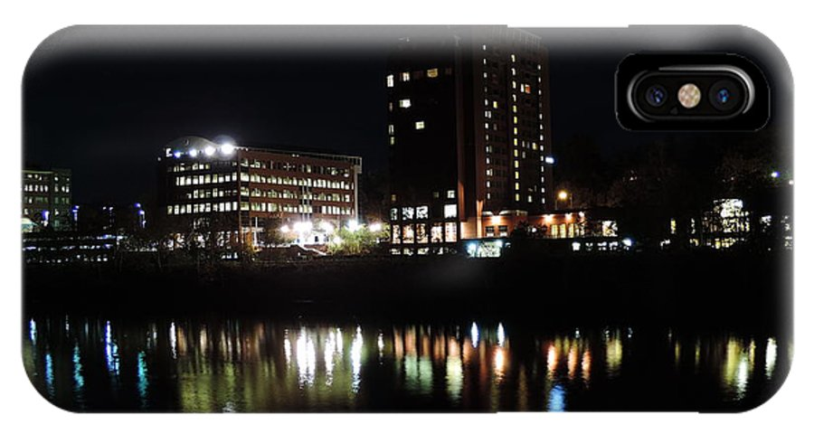 City IPhone X Case featuring the photograph Downtown Morgantown From The Waterfront by Cityscape Photography