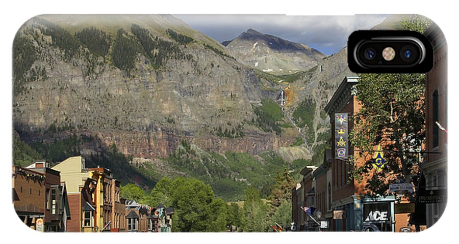 Rocky Mountains IPhone X Case featuring the photograph Downtown Telluride Colorado by Mike McGlothlen