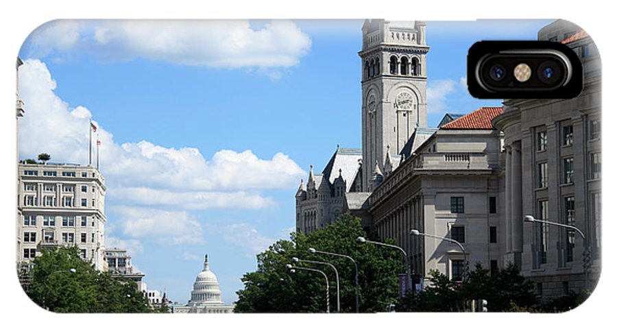 Downtown IPhone X Case featuring the photograph Downtown Washington by Cora Wandel