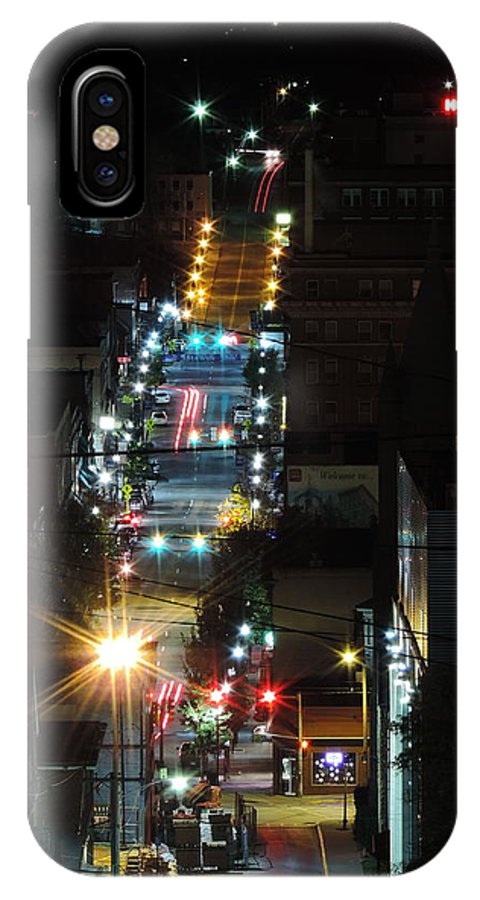 City IPhone X Case featuring the photograph Dowtown Morgantown From Above by Cityscape Photography