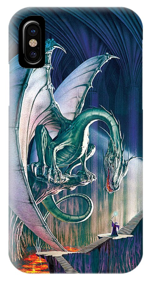 Dragon IPhone X Case featuring the photograph Dragon Lair With Stairs by The Dragon Chronicles - Robin Ko