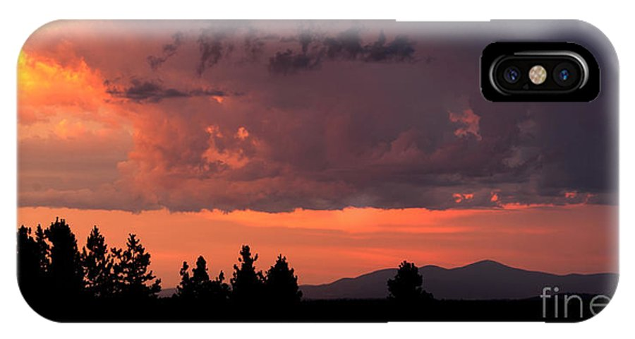 Spokane Wa IPhone X Case featuring the photograph Dragonfire Sunset - Mt. Spokane Wa by Craig Dykstra