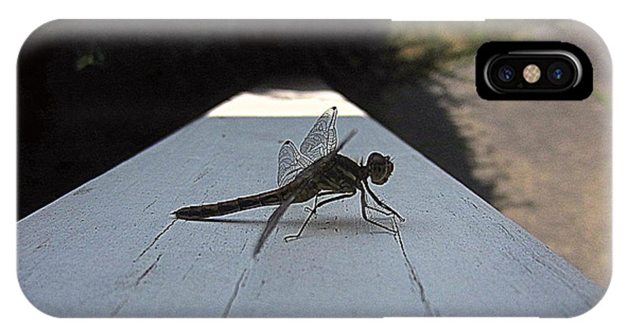Dragonfly IPhone X Case featuring the photograph Dragonfly by Jen Seel