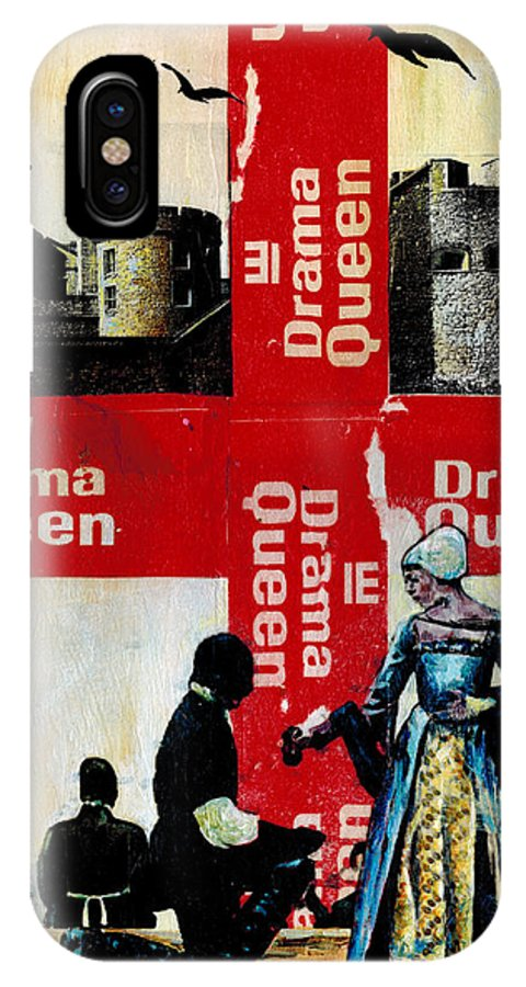 Mixed Media IPhone X Case featuring the painting Drama Queen by Paul Banham