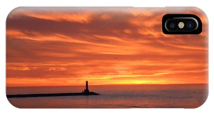 Dramatic IPhone X Case featuring the photograph Dramatic Flaming Sunset by Susan Wyman