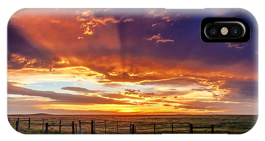 Pawnee National Grasslands IPhone X Case featuring the photograph Dramatic Prairie Sunset by Teri Virbickis