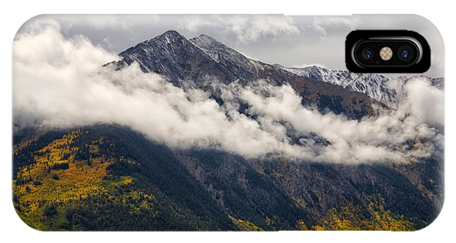 Clouds IPhone X Case featuring the photograph Draped In Ermine by Morris McClung