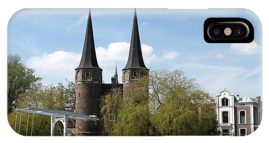 Drawbridge IPhone X Case featuring the photograph Drawbridge - Delft - Netherlands by Christiane Schulze Art And Photography