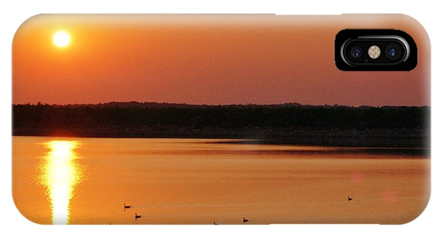 Lake IPhone X Case featuring the photograph Drawn To The Light by Willetta Crowe