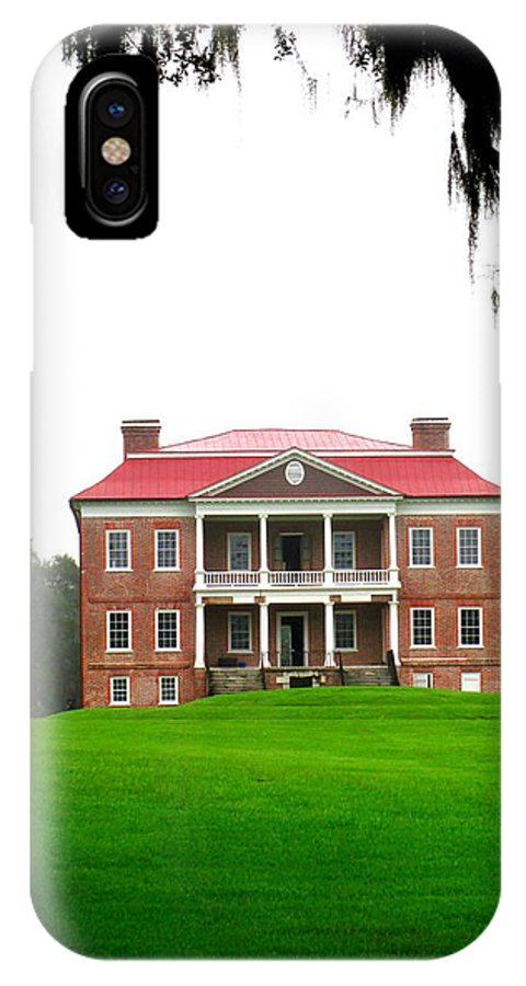 Drayton IPhone X Case featuring the photograph Drayton Hall Approach 2 by Randall Weidner
