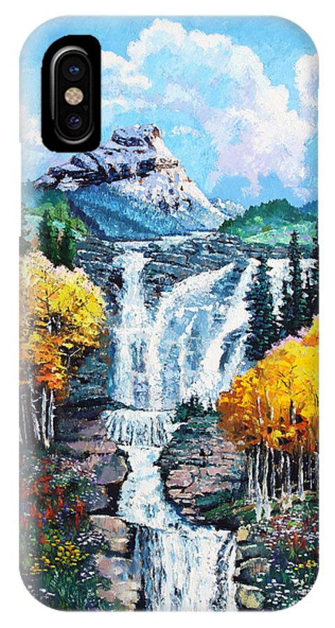 Mountains IPhone X Case featuring the painting Dreaming of Colorado by John Lautermilch