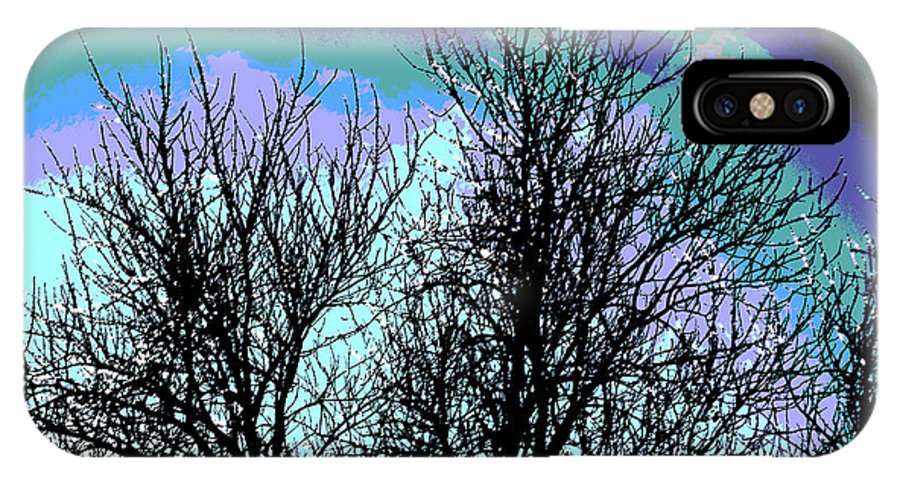 Dreaming Of Spring Through Icy Trees IPhone X Case featuring the photograph Dreaming Of Spring Through Icy Trees by Luther Fine Art