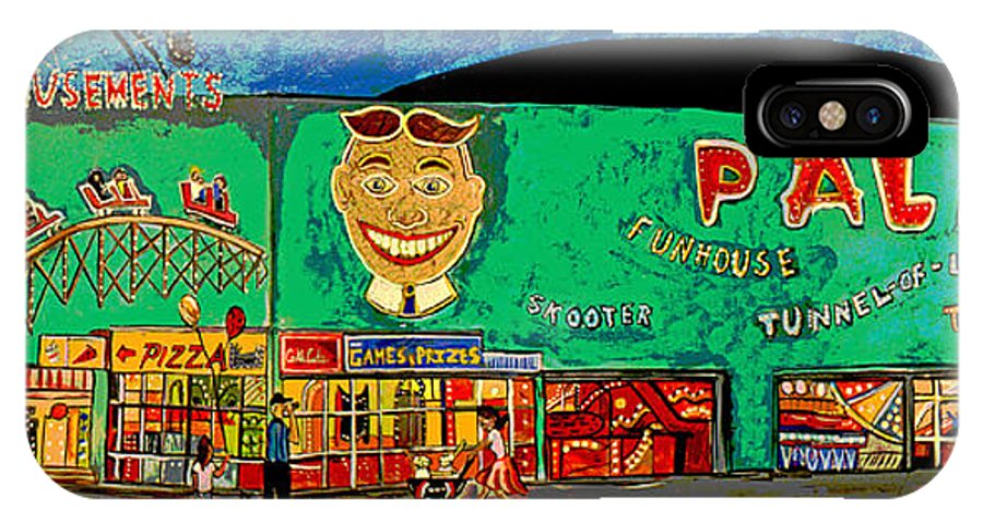Asbury Park Palace IPhone X Case featuring the painting Dreams of the Palace by Patricia Arroyo
