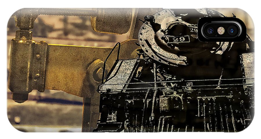 Train IPhone X Case featuring the digital art Dreams Of Trains Past by Georgianne Giese