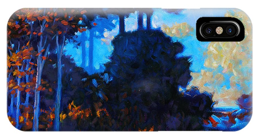 Landscape IPhone X Case featuring the painting Dreamscape by Kevin Lawrence Leveque