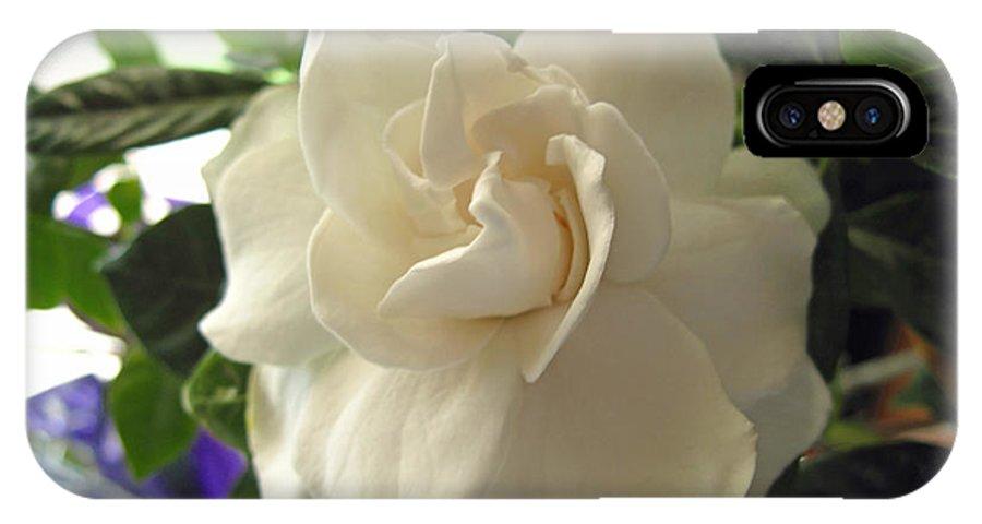 Gardenia IPhone X Case featuring the photograph Dreamy Creamy Gardenia by Barbara McDevitt