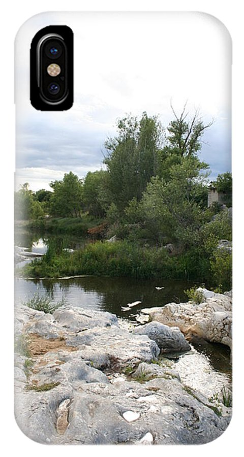 Stones IPhone X Case featuring the photograph Dreamy River by Christiane Schulze Art And Photography