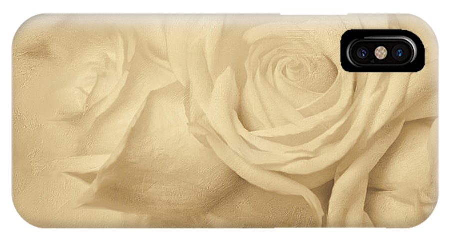 White Roses IPhone X Case featuring the photograph Dreamy Roses by Jayne Carney