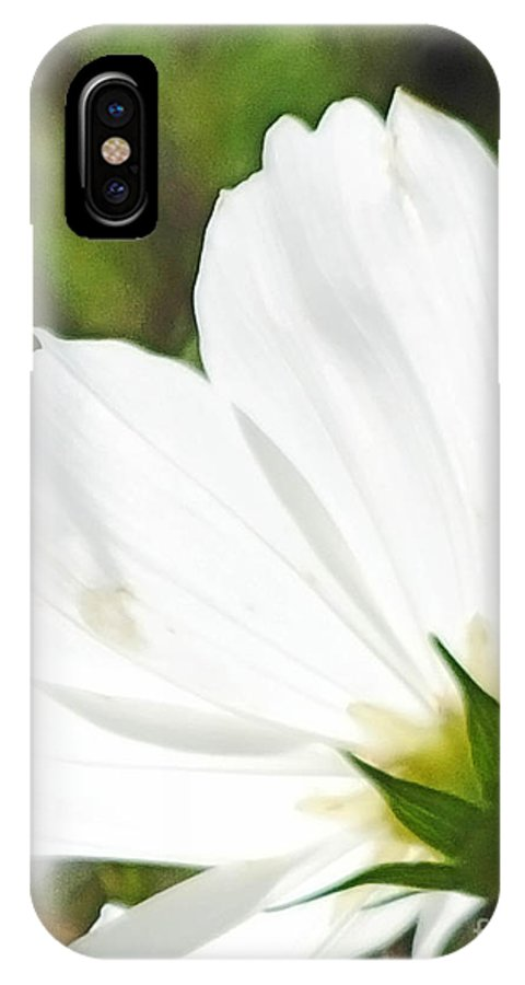 Flower IPhone X Case featuring the photograph Dreamy White Cosmos by Lizi Beard-Ward