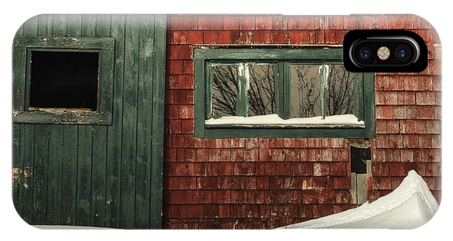 Barn IPhone X Case featuring the photograph Drifted In by Susan Capuano