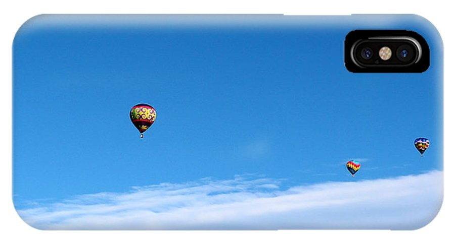 Balloon IPhone X Case featuring the photograph Drifting On The Wind by George Jones