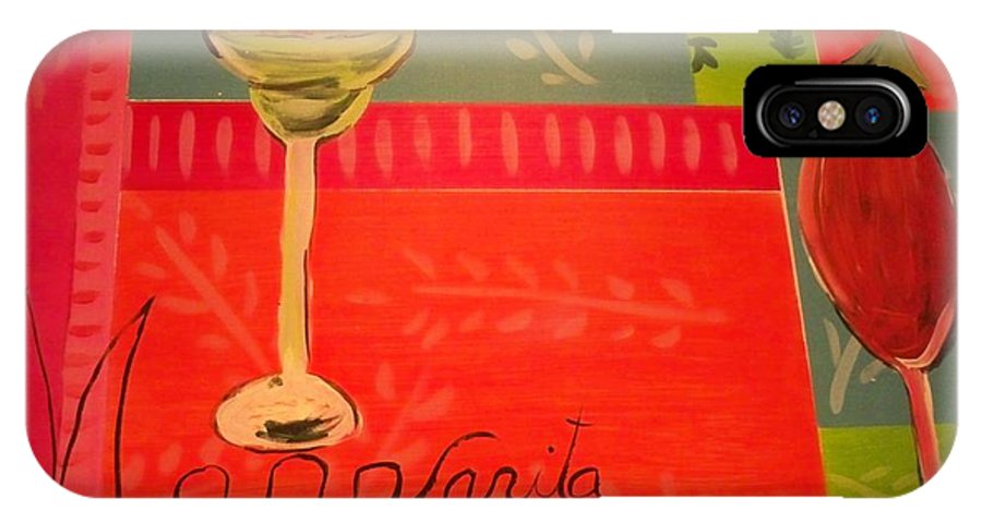 Mai Tai And Margarita IPhone X Case featuring the painting Drinks On The House by Linda Bright Toth