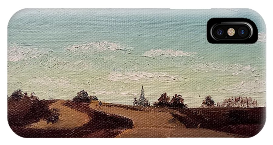 Iowa IPhone X Case featuring the painting Drive Home by Kimberly Ekes
