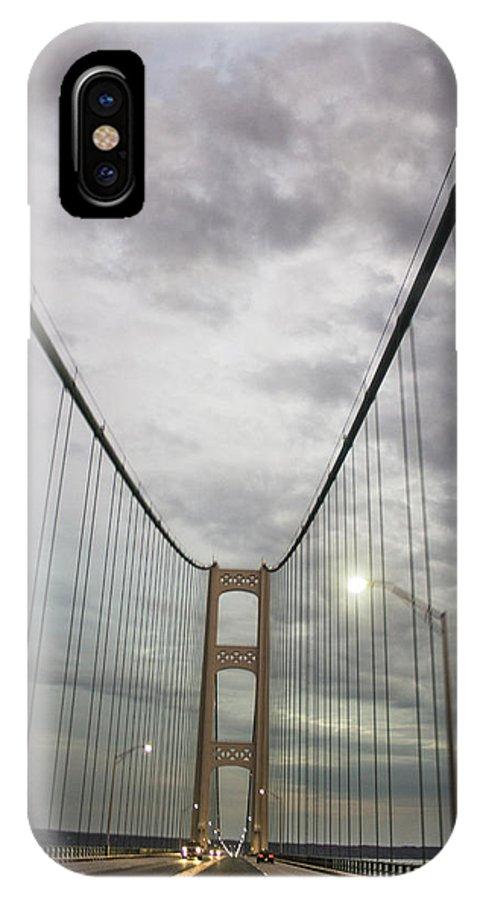 Mackinac Bridge IPhone X Case featuring the photograph Driving The Mackinac Bridge by John McGraw