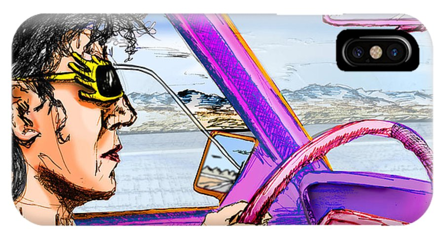 Driving IPhone X Case featuring the digital art Driving Through Arizona by Del Gaizo