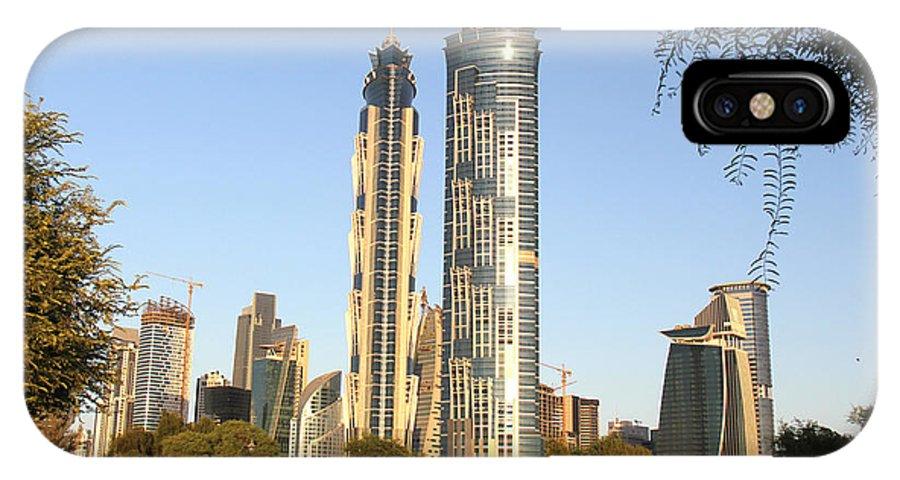Dubai City IPhone X Case featuring the photograph Dubai City by Sanjeewa Marasinghe