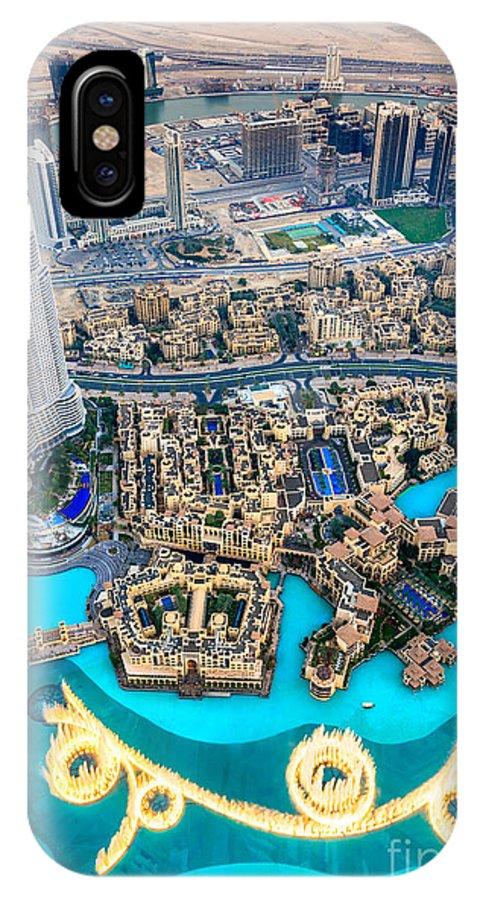 Dubai IPhone X Case featuring the photograph Dubai Downtown - Uae by Luciano Mortula