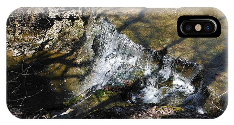 Dublin Ohio Waterfall In Spring IPhone X Case featuring the photograph Dublin Ohio Waterfall In Spring 1 by Paddy Shaffer