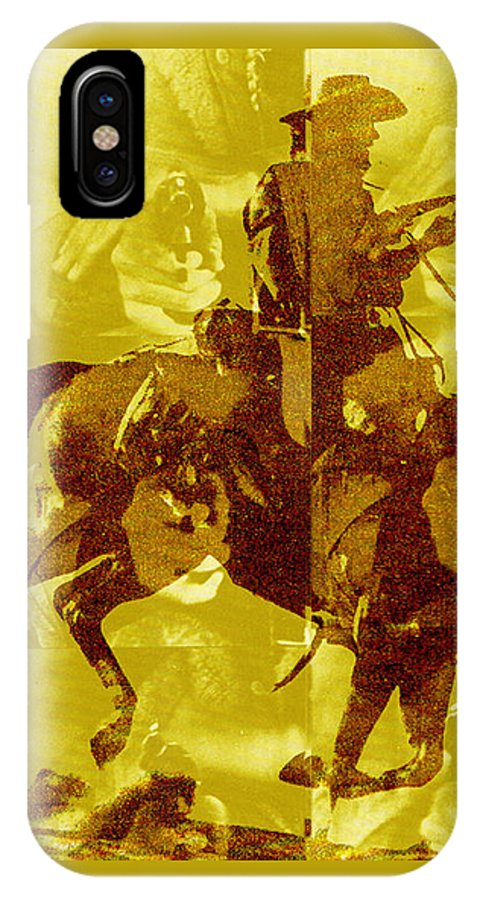 Clint Eastwood IPhone X Case featuring the digital art Duel In The Saddle 1 by Seth Weaver